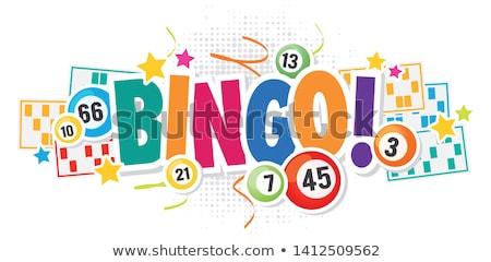 Bingo ilustração jogo bola vermelho Foto stock © Lom