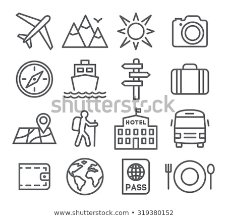 viaggio · line · design · illustrazione · vettore - foto d'archivio © rastudio