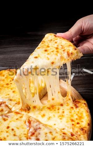 pizza · queso · tocino · espinacas · pieza · almuerzo - foto stock © digifoodstock