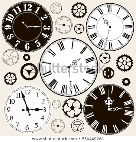 Grunge visage horloge blanche mur fond Photo stock © olykaynen