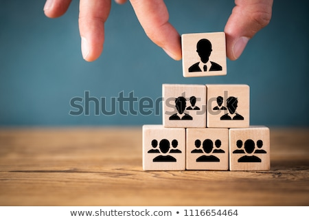 corporativo · hierarquia · fluxograma · diagrama · azul · tecnologia - foto stock © lightsource