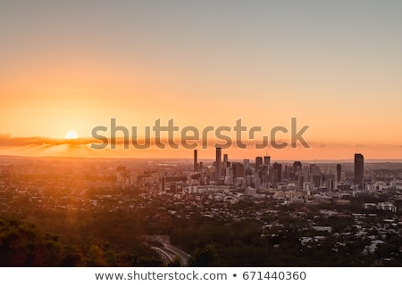 View of Brisbane City from Mount Coot-tha Stock photo © artistrobd