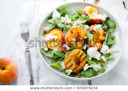 Lata Sałatka płyty warzyw żywności Zdjęcia stock © mpessaris