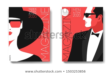 Man and woman poster Stock photo © timbrk