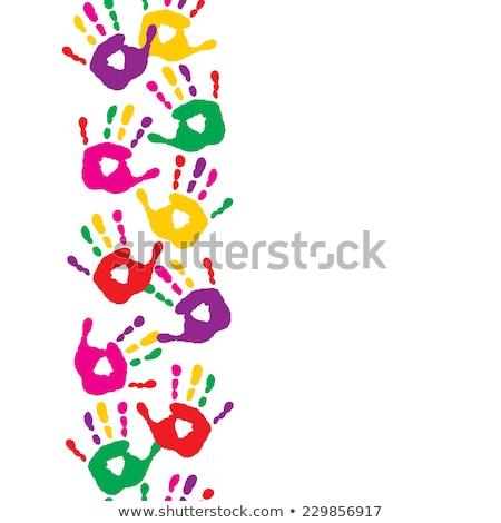 Kid Playful Hand Prints Vector Art Stock photo © doddis