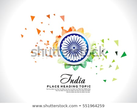 abstract republic day background with ashok chakra Stock photo © rioillustrator