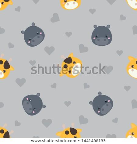 A grey giraffe Stock photo © bluering