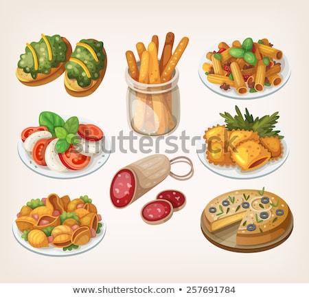 baguettes · pan · mediterráneo · mercado - foto stock © digifoodstock