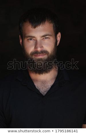 Magányos érett férfi mutat depresszió sötét lehangolt Stock fotó © tab62