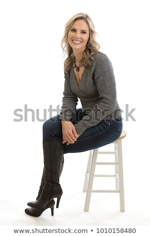 A professional woman sitting down Stock photo © bluering