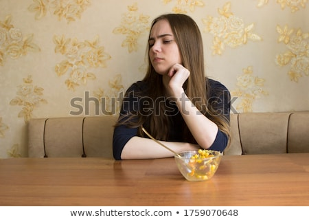 content not discontent concept stock photo © ivelin