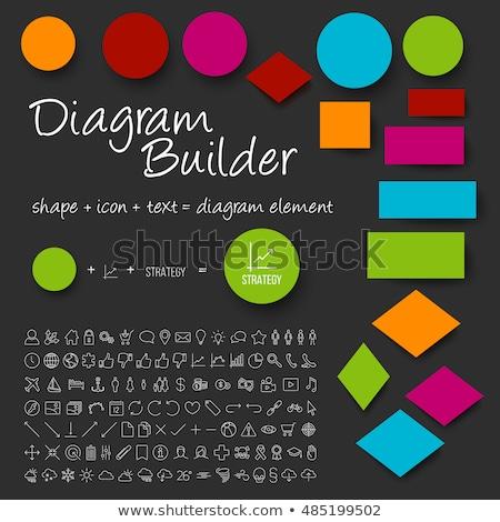 Vetor esquema diagrama construtor conjunto Foto stock © orson