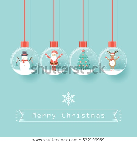 Christmas cards with antlers, vector Stock photo © beaubelle