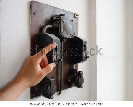 古い · オフ · スイッチ · 1 · 産業 · 電源 - ストックフォト © zurijeta