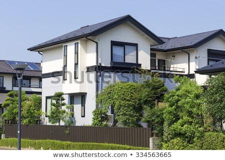 Maison individuelle illustration blanche bâtiment modèle maison Photo stock © bluering
