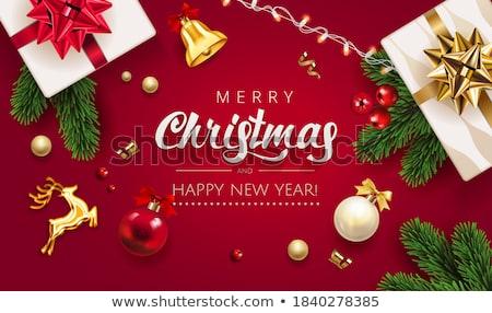 Verde Navidad saludo resumen árbol de navidad Foto stock © derocz