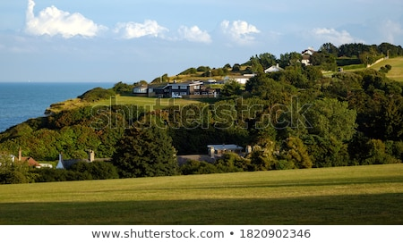 white cliffs and dover harbor along the coast of english channel stock photo © capturelight