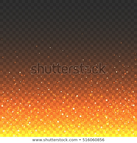 Stock photo: Realistic fire transparent effect frame. EPS 10