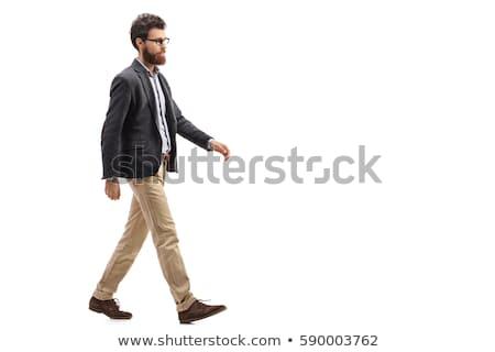 Man lopen pose eps 10 witte Stockfoto © Istanbul2009