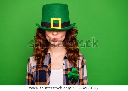 Girl Wearing a Leprechaun Costume Stock photo © lenm