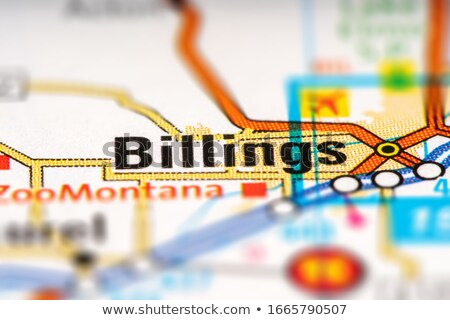 Stock photo: billings city pin on the map
