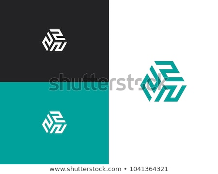 colorful abstract logo with number 2 Stock photo © SArts