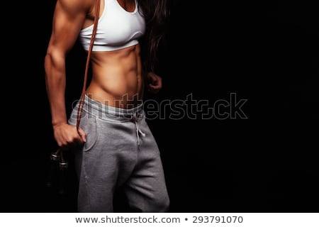 Close-up of woman muscular torso Stock photo © svetography
