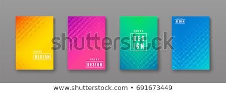 Brilhante colorido moderno listrado abstrato vetor Foto stock © cosveta