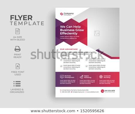 Modern kék üzlet bemutató brosúra sablon Stock fotó © SArts