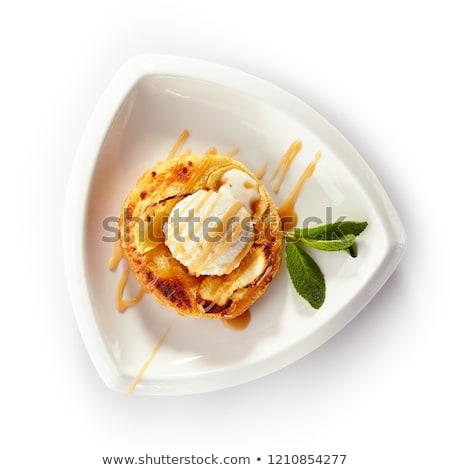 Mini apple tart with ice cream Stock photo © Digifoodstock