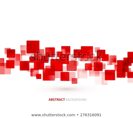 Red  shiny squares technical background. Vector  stock photo © fresh_5265954