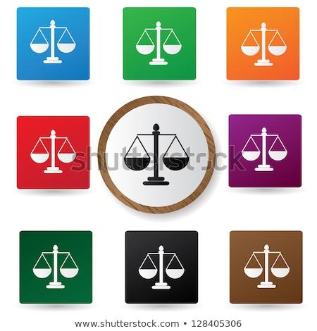 törvény · igazság · ikon · illusztráció · terv · ügyvéd - stock fotó © imaagio