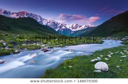 лет пейзаж горные реке Грузия Солнечный Сток-фото © Kotenko