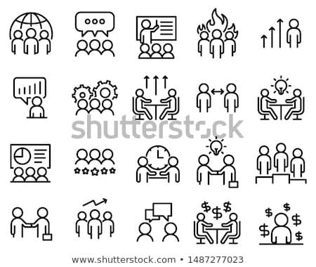 команде · икона · дизайна · прибыль · на · акцию · счастливым · сеть - Сток-фото © sdCrea