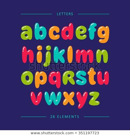 Small English Alphabets for kids Stock photo © neelvi