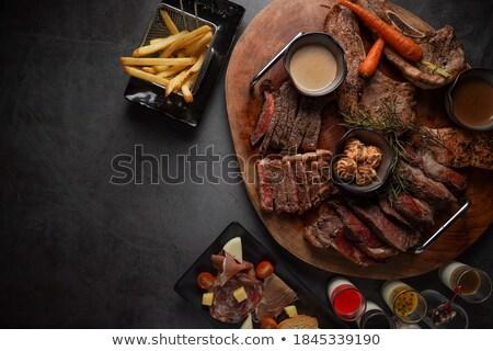 Bife fundo arte jantar café da manhã desenho Foto stock © bluering