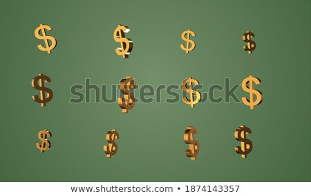 Coins stacked in a chaotic manner Stock photo © marekusz