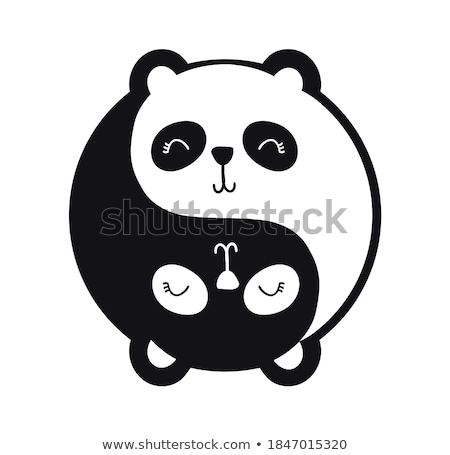 Smiling cartoon yin-yang face Stock photo © adrian_n