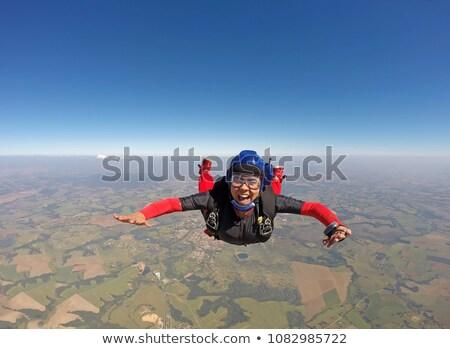 африканских прыжки парашютом профессиональных падение воздуха Сток-фото © RAStudio