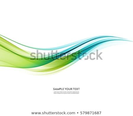 Résumé vert bleu modernes lieu texte Photo stock © olgaaltunina