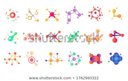 vector color molecule stock photo © elmiko