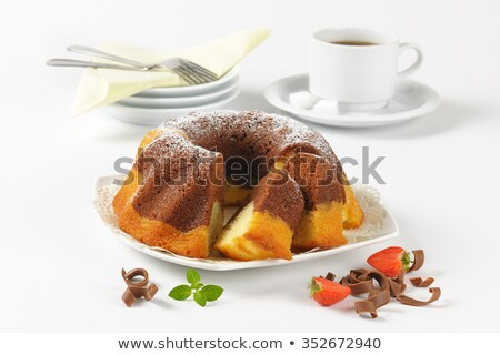 Marmo torta Cup caffè caffè nero bianco Foto d'archivio © Digifoodstock