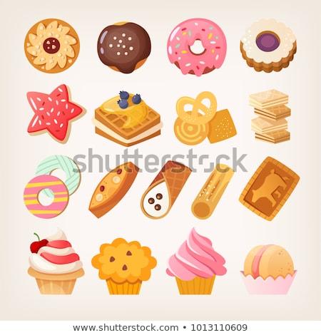 Chocolate nut cream crostata Stock photo © Digifoodstock