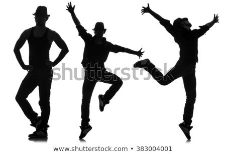 boy silhouette in Leaping pose Stock photo © Istanbul2009