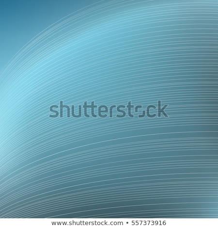 Abstract blue background. Parallel curved strips. Geometric lines in perspective. Stock photo © ESSL