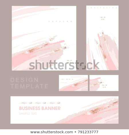 pastel color ink brush stroke vector background Stock photo © SArts