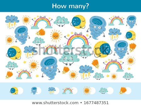 Addition worksheet with rainbow in background Stock photo © bluering