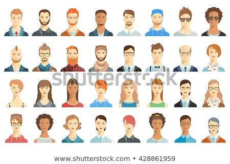 boy head flat vector icon stock photo © ahasoft