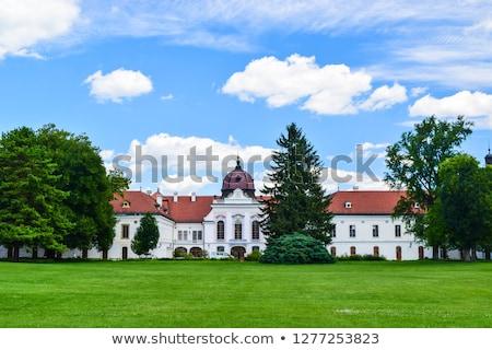 varanda · palácio · pedra · antigo · turismo · horizontal - foto stock © skovalsky