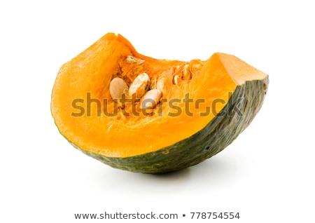 Um trimestre abóboras branco laranja outono Foto stock © Digifoodstock